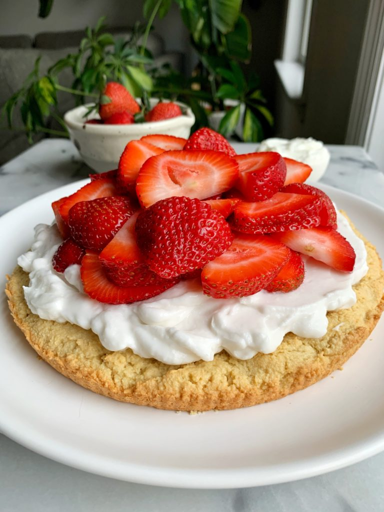 The BEST healthy Strawberry Shortcake recipe that is also paleo, gluten-free and dairy-free and hands down one of the easiest desserts to bake.