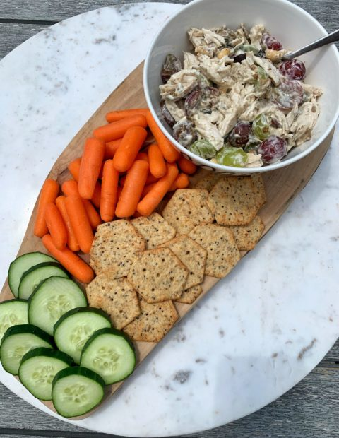 Healthy No-Mayo Waldorf Chicken Salad (gluten-free)