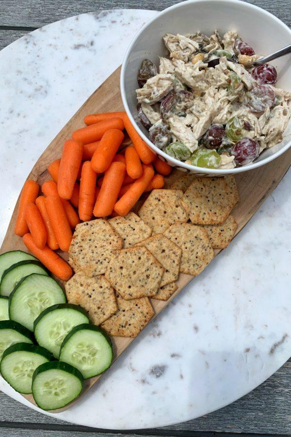 Healthy No-Mayo Waldorf Chicken Salad (gluten-free)