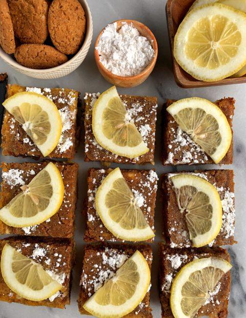 Gluten-free Lemon Cookie Bars (dairy-free)