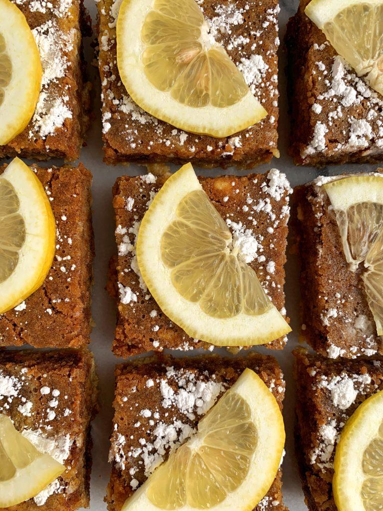 Healthy Lemon Cookie Bars