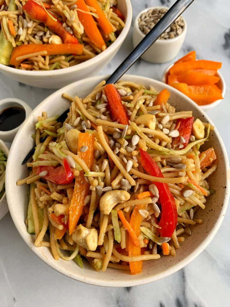 the best healthy lo mein