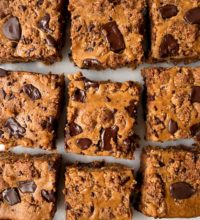 Gluten-free Chocolate Chip Cookie Cheesecake Bars