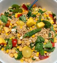 The BEST Healthy Summertime Couscous Salad