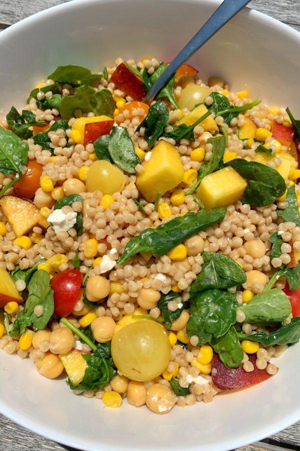 The BEST Healthy Summertime Couscous Salad