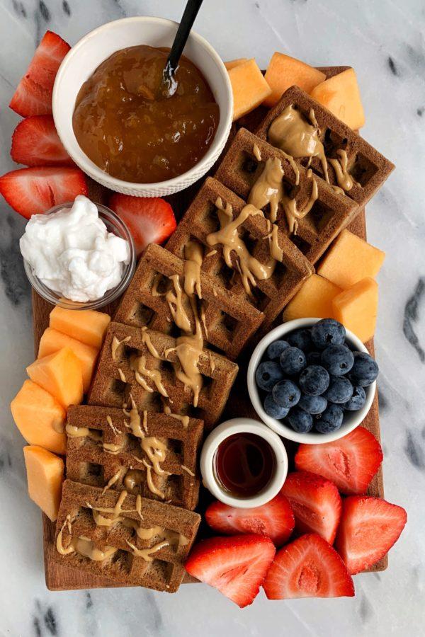 Breakfast Snack Board with Peach Jam
