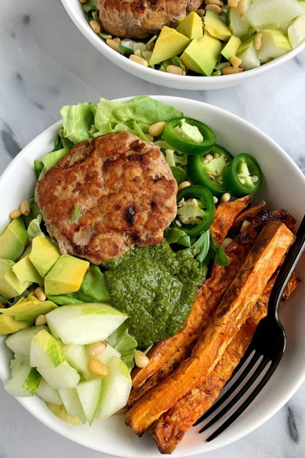 Healthy Avocado Chicken Burgers (paleo + whole30)