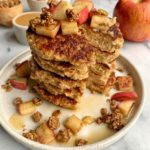 Healthy Apple Pie Oatmeal Pancakes (gluten-free)