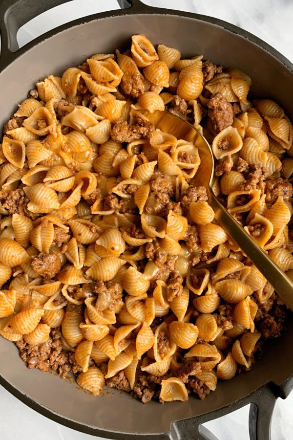One-Skillet Gluten-free Hamburger Helper