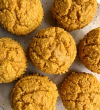 Deliciously Healthy Pumpkin Corn Muffins (gluten-free)