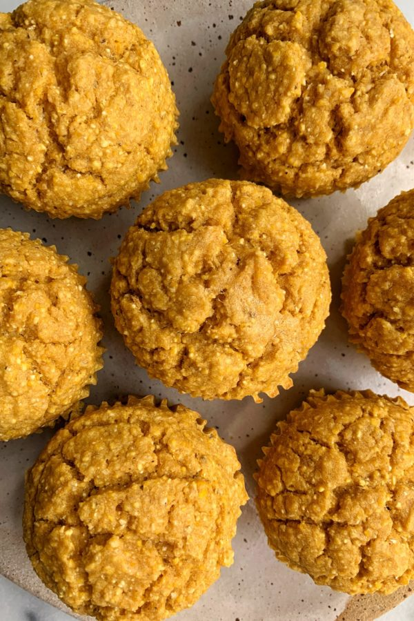 Deliciously Healthy Pumpkin Corn Muffins (gluten-free)