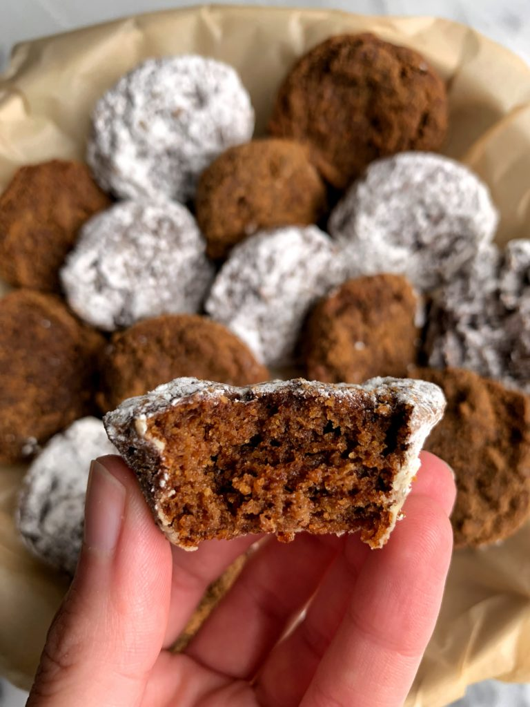 The Most Delicious Pumpkin Donut Holes made with all gluten-free and vegan ingredients. A healthier copycat munchkin recipe using my favorite baking mix!