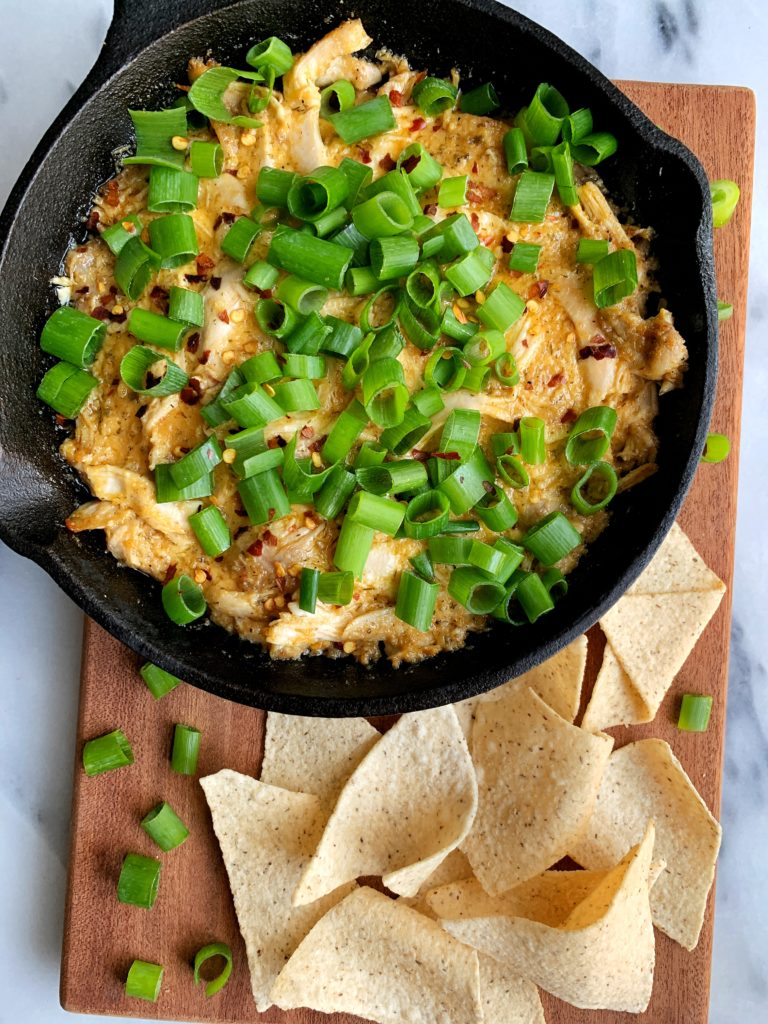 The Best Healthy Buffalo Chicken Dip made with all Whole30-friendly ingredients. A quick and easy appetizer to make for any occasion and it is gluten-free, dairy-free and truly so delicious.