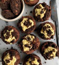 Vegan Double Chocolate Oreo Muffins (gluten-free)