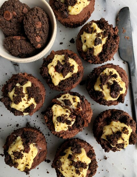 Vegan Double Chocolate Oreo Muffins (gluten-free)