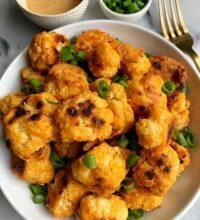 Crispy Baked Buffalo Cauliflower Wings (vegan, Whole30)