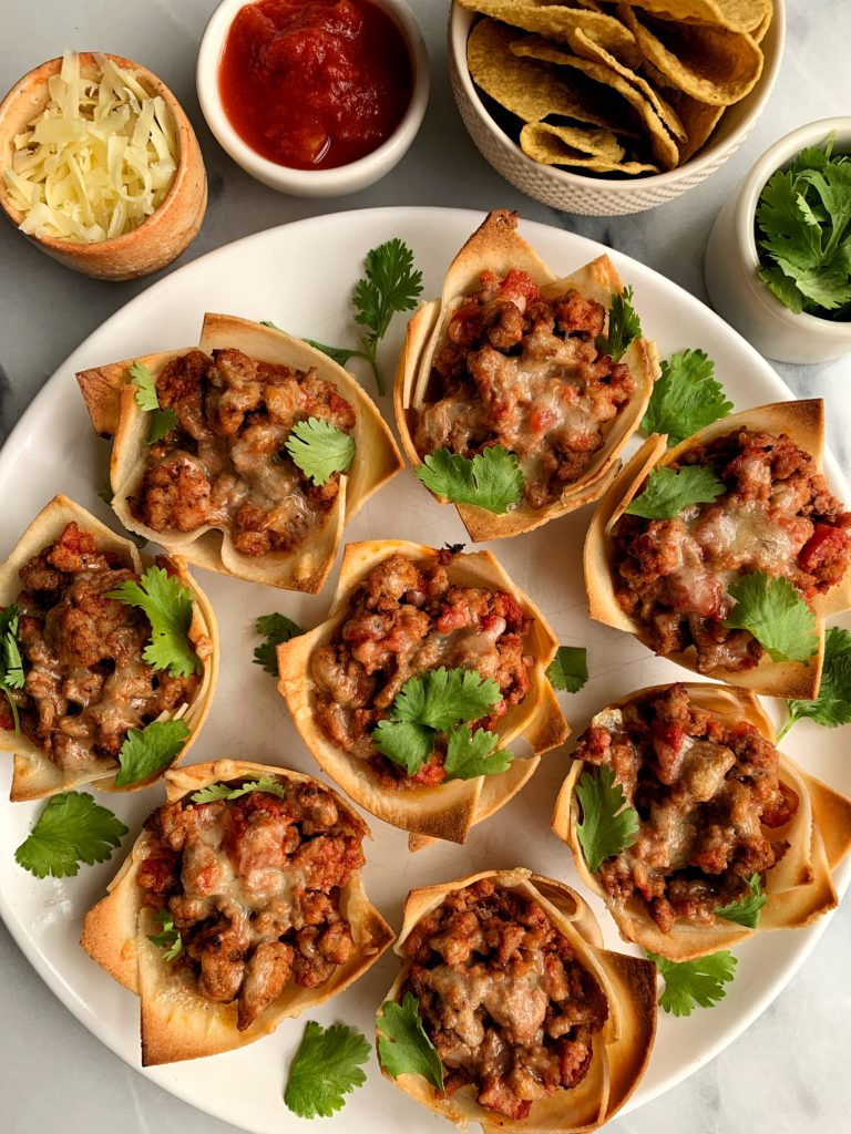 These insanely delicious gluten-free Mini Taco Cups are truly one of my favorites ever. They are made with just 6 healthy ingredients and ready in less than 30 minutes.