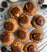 The BEST Vegan Peanut Butter Cup Blossoms