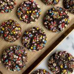 Epic Gluten-free Chocolate Cake Mix Cookies made with just 4 ingredients and they taste just like devil's food cake in cookie form! A delicious and healthier cookie recipe to make.