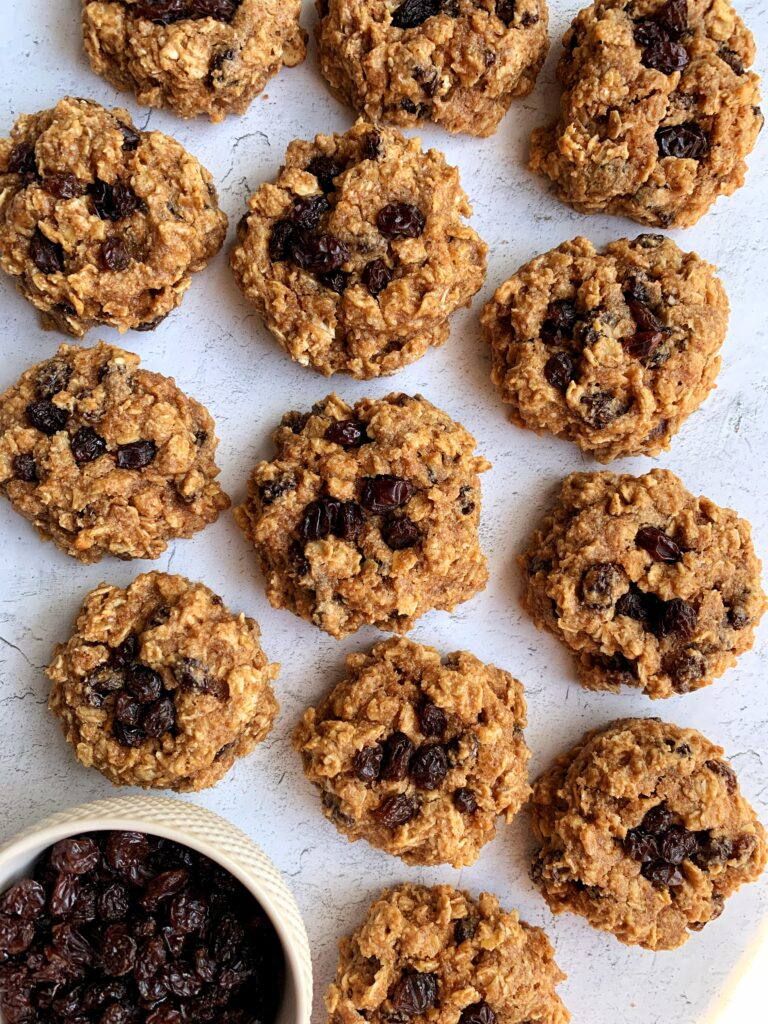 The Ultimate Vegan Oatmeal Raisin Cookies made with all gluten-free ingredients. These are the ultimate thick and chewy oatmeal cookie recipe that is made with all healthier ingredients.