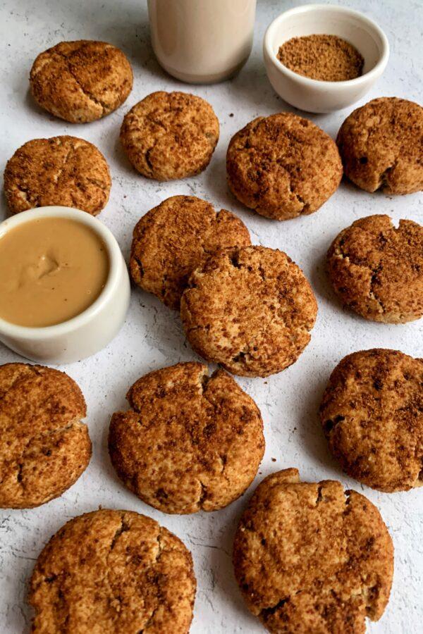 Gluten-free Peanut Butter Snickerdoodle Cookies