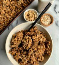 Addicting Gluten-free Cinnamon Peanut Butter Granola