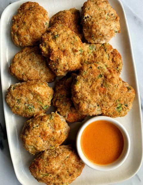 Oven-Baked Paleo Veggie Chicken Nuggets
