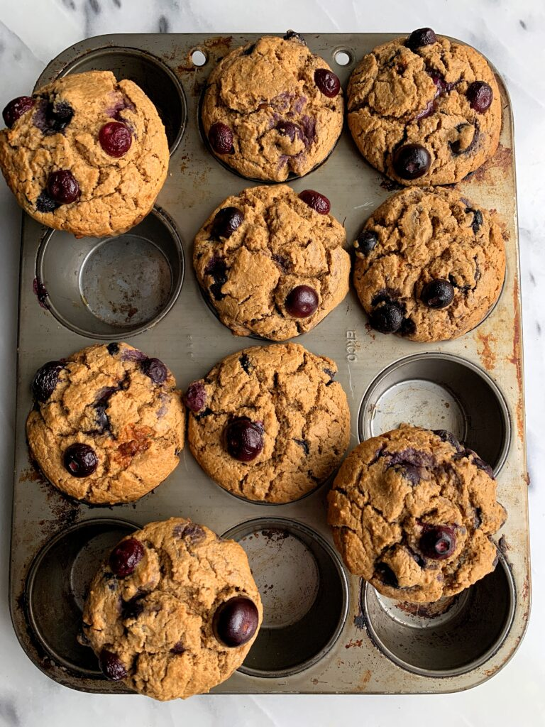 Life Changing Bakery-Style Blueberry Muffins made with gluten-free ingredients for a healthier twist on a classic blueberry muffin recipe.
