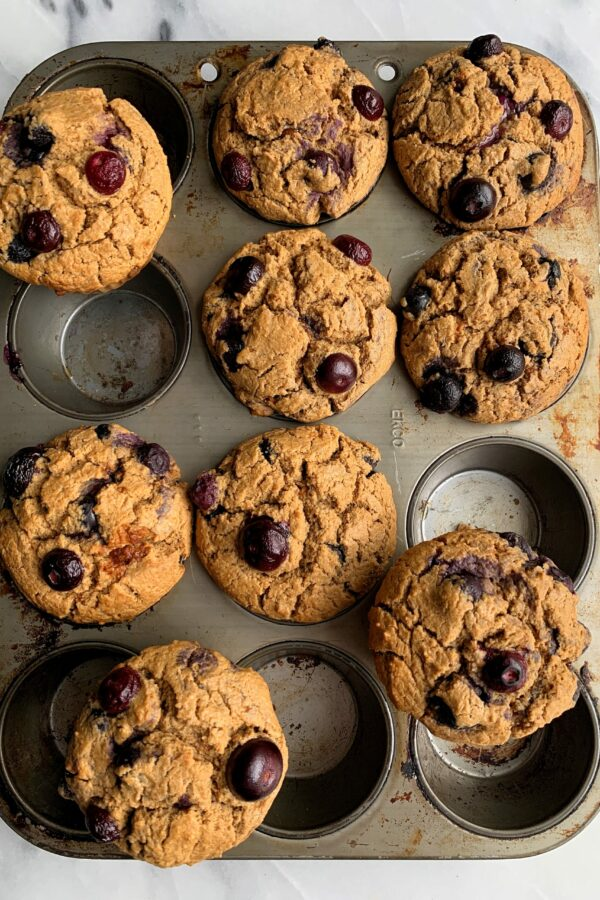 Life Changing Bakery-Style Blueberry Muffins (gluten-free)