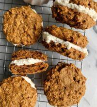 Healthier Vegan Oatmeal Cream Pies (gluten-free)