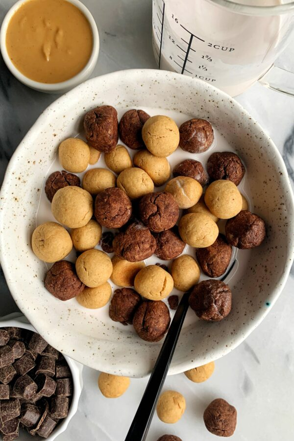 Copycat Gluten-free Reese's Puffs Cereal (vegan)