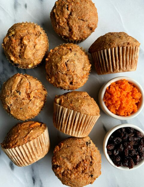The Best Ever Vegan Morning Glory Muffins (gluten-free)