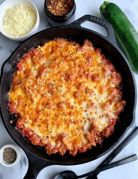 Healthy Zucchini Pizza Casserole (gluten-free + grain-free)