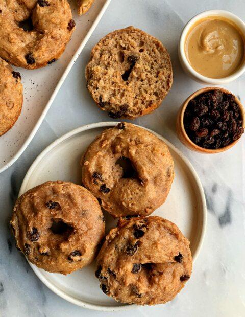 Homemade Vegan Cinnamon Raisin Bagels (gluten-free)