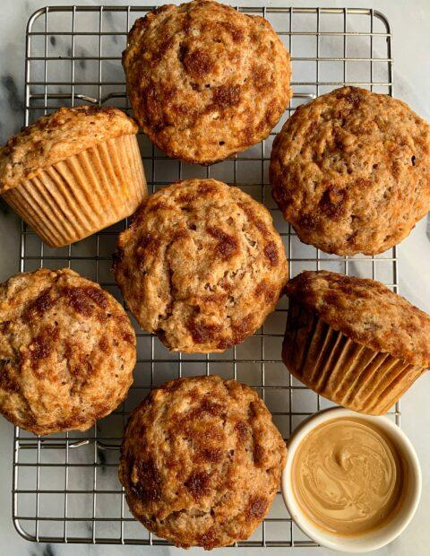 Vegan Cinnamon Roll Banana Bread Muffins
