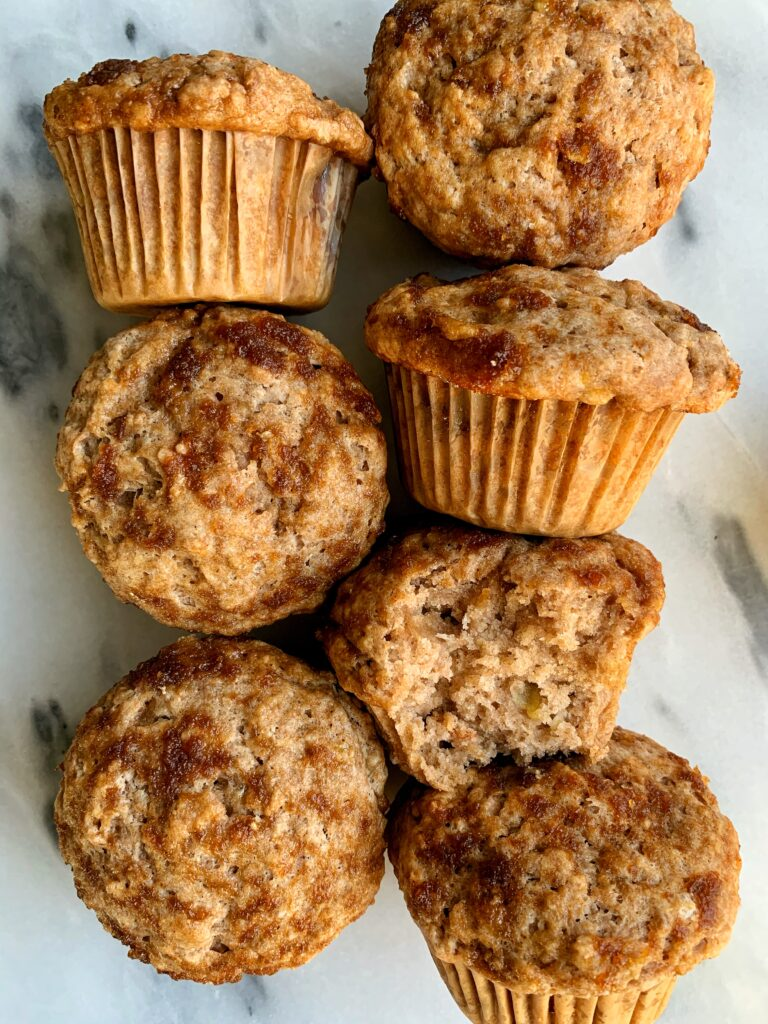 Vegan Cinnamon Roll Banana Bread Muffins made with all gluten-free and nut-free ingredients! A delicious banana bread muffin with a cinnamon swirl twist!