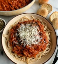 The Best Vegan Bolognese Pasta Recipe!