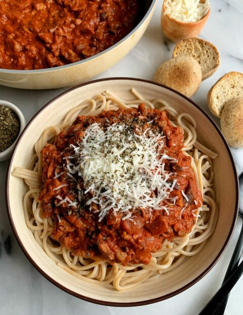 The Best Vegan Bolognese Pasta Recipe!