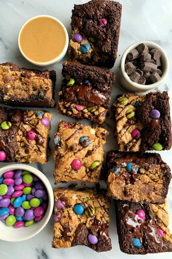Best Ever Gluten-free Monster Cookie Brownies