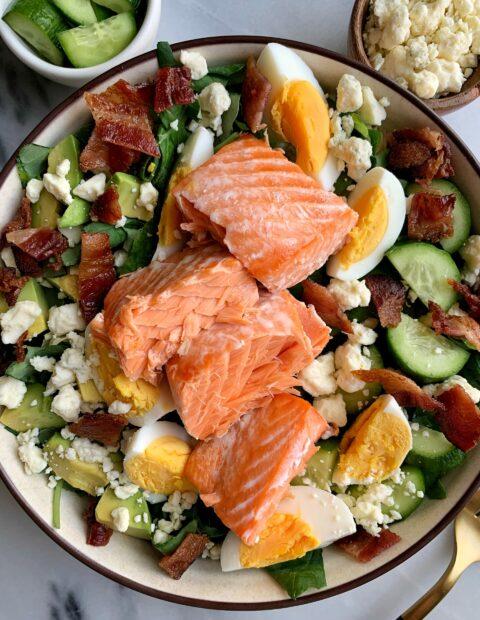 Delicious Salmon Cobb Salad