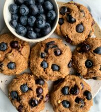 Vegan Blueberry Banana Bread Muffin Tops