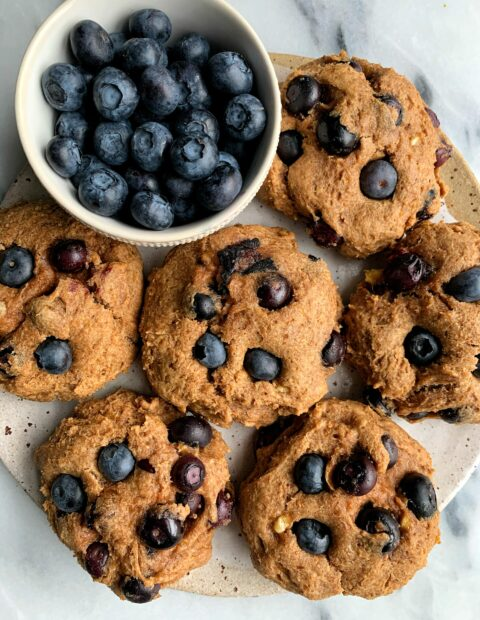 Vegan Blueberry Banana Bread Muffin Tops