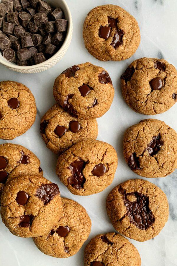 INSANE Gluten-free Brown Butter Chocolate Chip Cookies