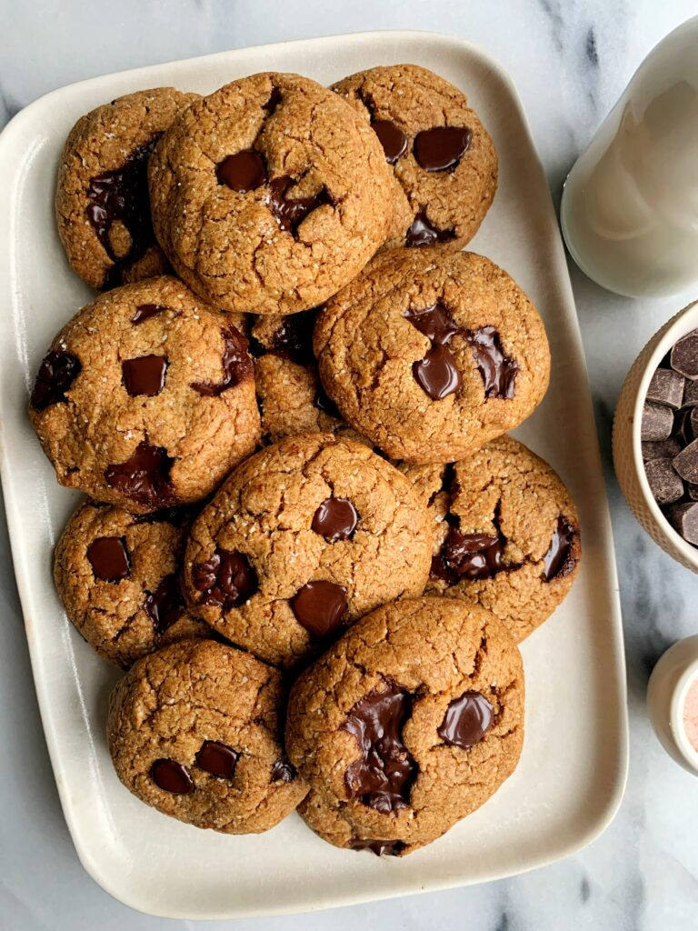 INSANE Gluten-free Brown Butter Chocolate Chip Cookies that are truly life-changing. These cookies are the ultimate cookie recipe to make and the browned butter takes them to a whole new level.
