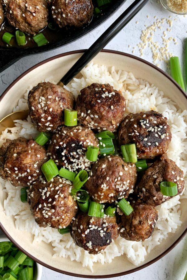 20-minute Healthy Teriyaki Meatballs