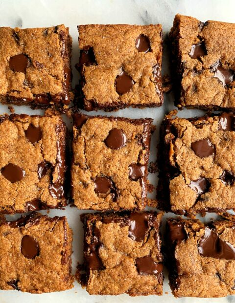 The Most EPIC Fudgy Paleo Blondies
