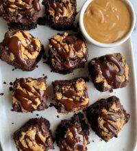Crazy Good Vegan Peanut Butter Brownies (gluten-free)