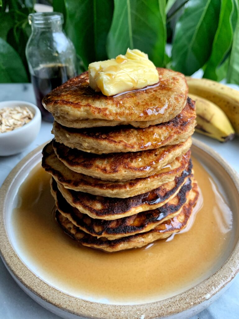 The Easiest Gluten-free Yogurt Pancakes made with 5 key ingredients for a healthy and delicious homemade pancake recipe!