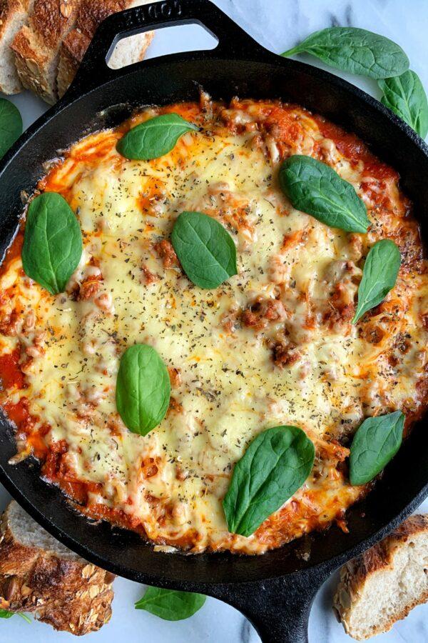 Healthy Spaghetti Squash Casserole (no noodles!)