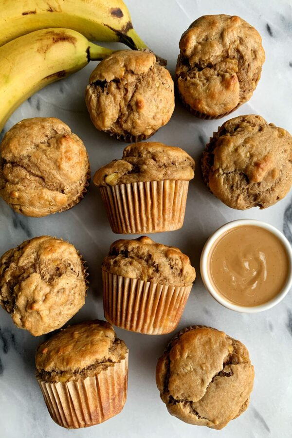 Healthy Peanut Butter Banana Muffins (gluten-free)